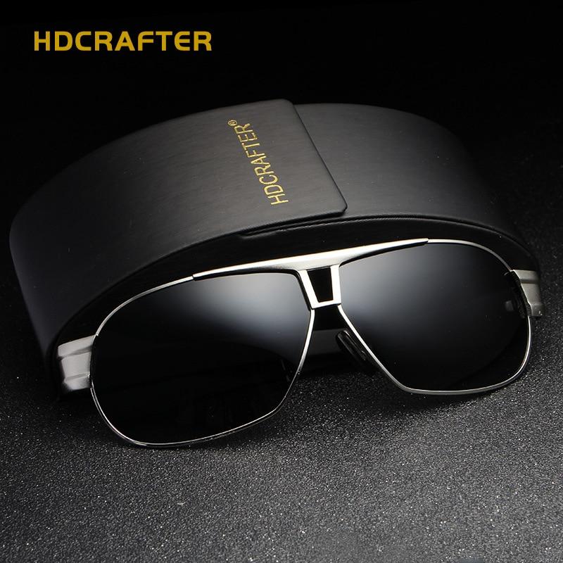 HDCRAFTER 2017 Brand designer Men Sunglasses Vintage Metal Frame font b Polarized b font Sun glasses