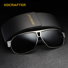 HDCRAFTER 2017 Brand designer Men Sunglasses  Vintage Metal Frame Polarized  Sun glasses fashion Driving Eyewear Oculos de sol