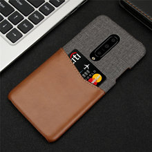 Luxury Splice Fabric Canvas Cloth Case For OnePlus 6 6T 7 Pro Card Holders Slim Hard Back Cover For OnePlus 7 Pro 6 6T 1+6t Etui