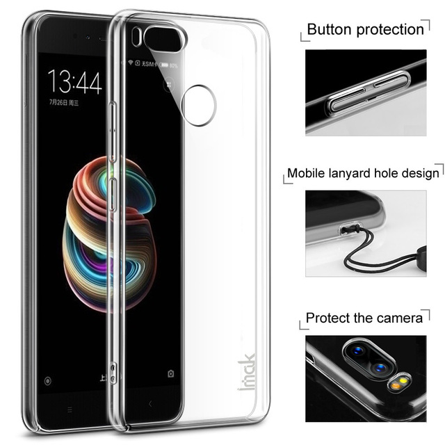 pick up 4eeee 42aff US $5.69 5% OFF|Imak Xiaomi Mi A1 Case Crystal Series Hard Transparent PC  Back Cover Xiaomi Mi A1 / Xiaomi MiA1-in Fitted Cases from Cellphones & ...