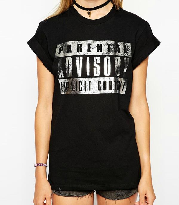 Aliexpress.com : Buy Camisetas Mujer Hot Silver Letters Printing ...