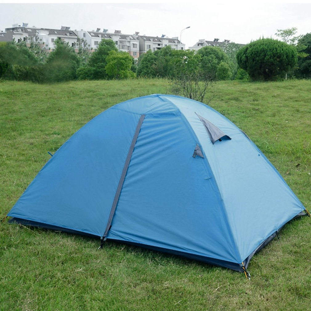 Super Lightweight Waterproof Double Layers 2 Person Tents Outdoor Camping Hiking Climbing 190T Polyester Portable Beach Tent 2018 hillman camping tent high mountain highland snow mountain double layers silicone coating tents super windproof rainproof