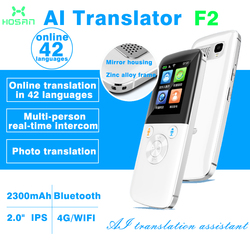 HOSAN Portable Smart Voice Two-Way Real Time 42 Multi-Language Photo Translator free shipping