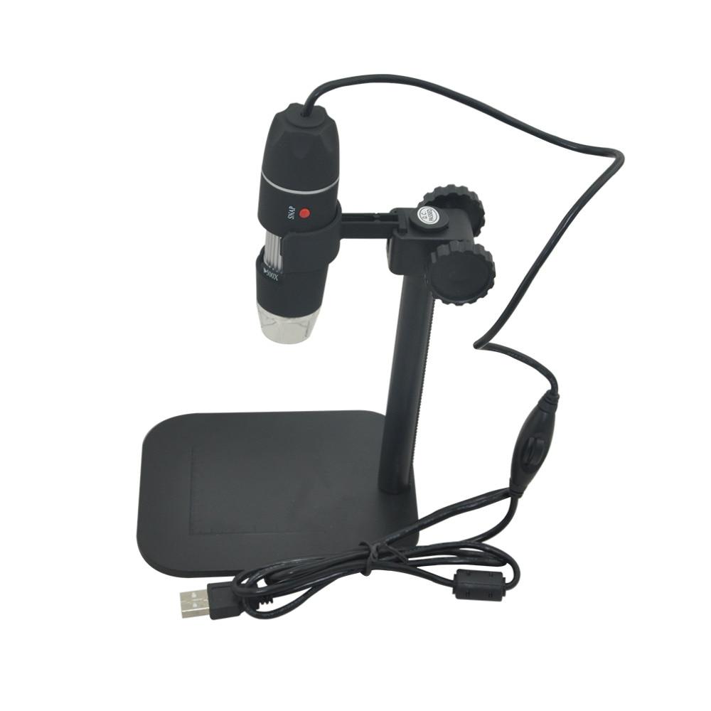 50X to 500X font b USB b font LED Digital Electronic Microscope Magnifier Camera Black Practical