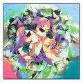 100 см старинные абстрактный картина маслом листья платок кольцо шарф женщины весна 2017 мода женский шарф для циновка пляжа A231