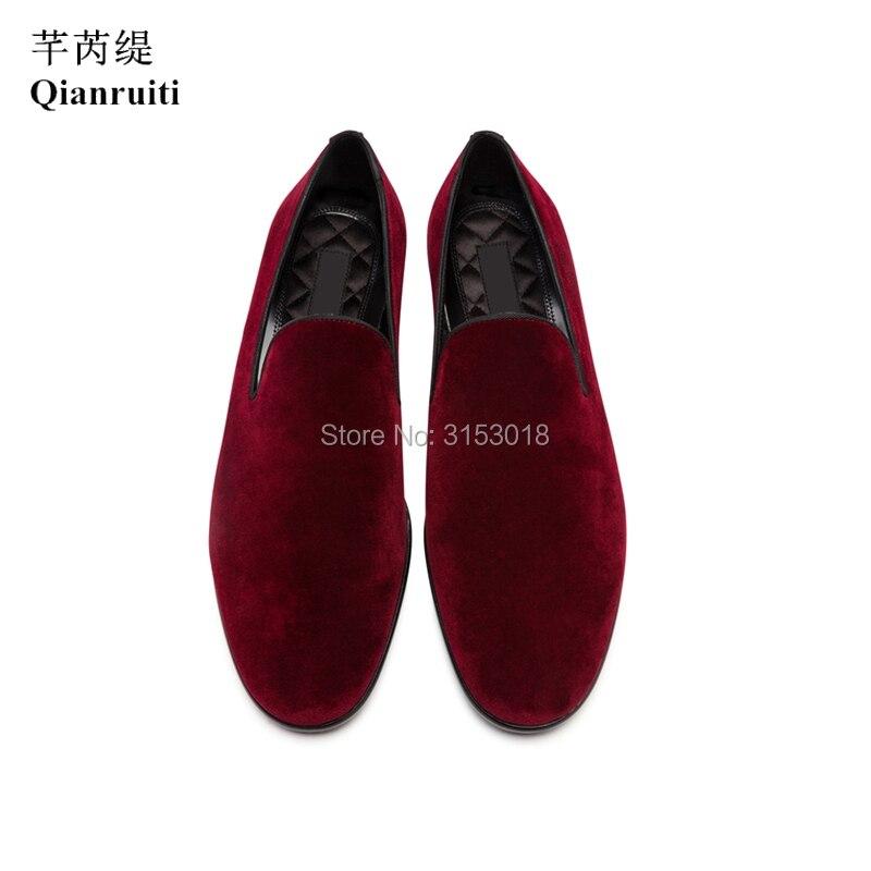 Классическая мужская повседневная обувь из бархата ручной работы; деловая модельная обувь без застежки; сезон весна; 2019; обувь для улицы; подарок - 4