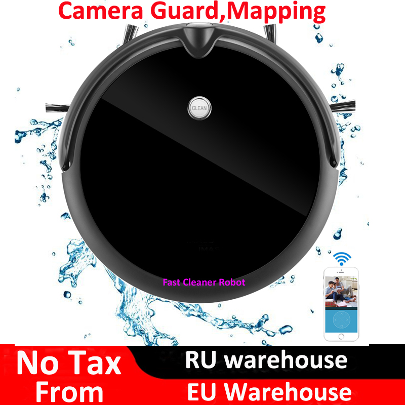 Newest Camera Guard Video Call Wet Dry robot aspirador With Map Navigation,WiFi App Control,Smart Memory,Water Tank image