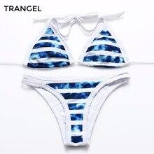 2016 New Sexy Printed Swimwear For Women Halter Top Bikini Set biquini Swimsuit Pin Up Bathing
