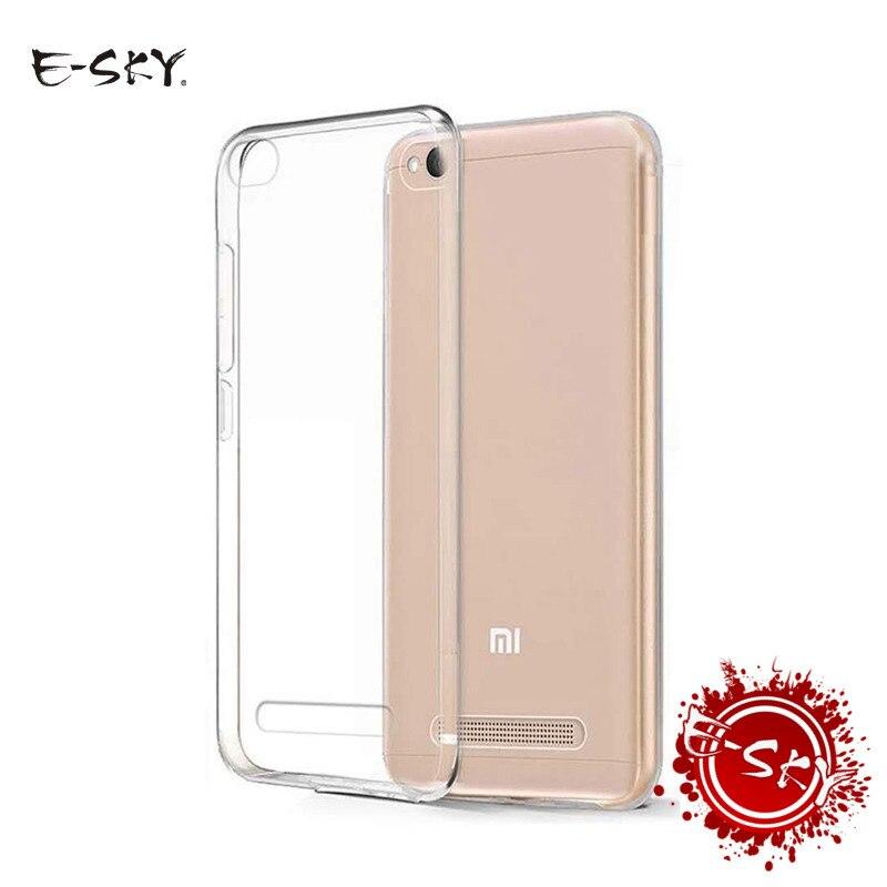 E-небо ультра тонкие мягкие ТПУ Телефонные чехлы для Xiaomi Red Mi note5a 4x 4A not4x прозрачный силиконовый чехол для красный mi чехол