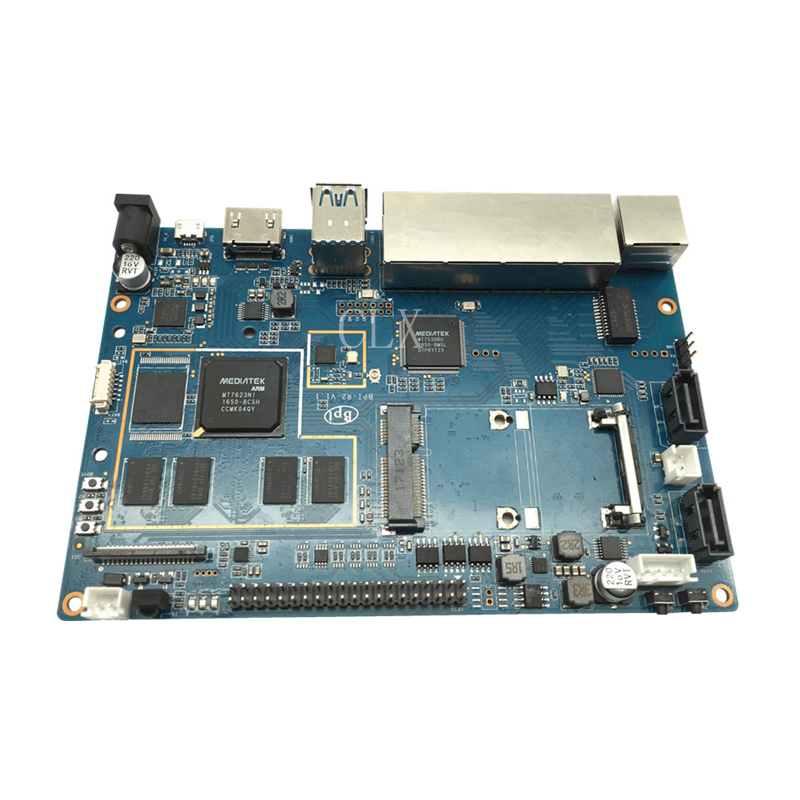 Banana Pi R2 BPI-R2 Quad-Core 2GB RAM with SATA WiFi Bluetooth 8GB eMMC demo Single Board+case free shipping недорого