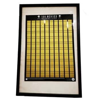 Movie Scratch Off Poster 100 MOVIES 1