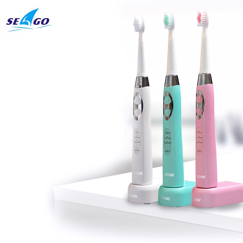 Hight Qualität Wasserdichte Schallwelle Lade Smart Elektrische Zahnbürste Mundhygiene Weiß Zwei Farben Seago SG-917 kostenloser versand