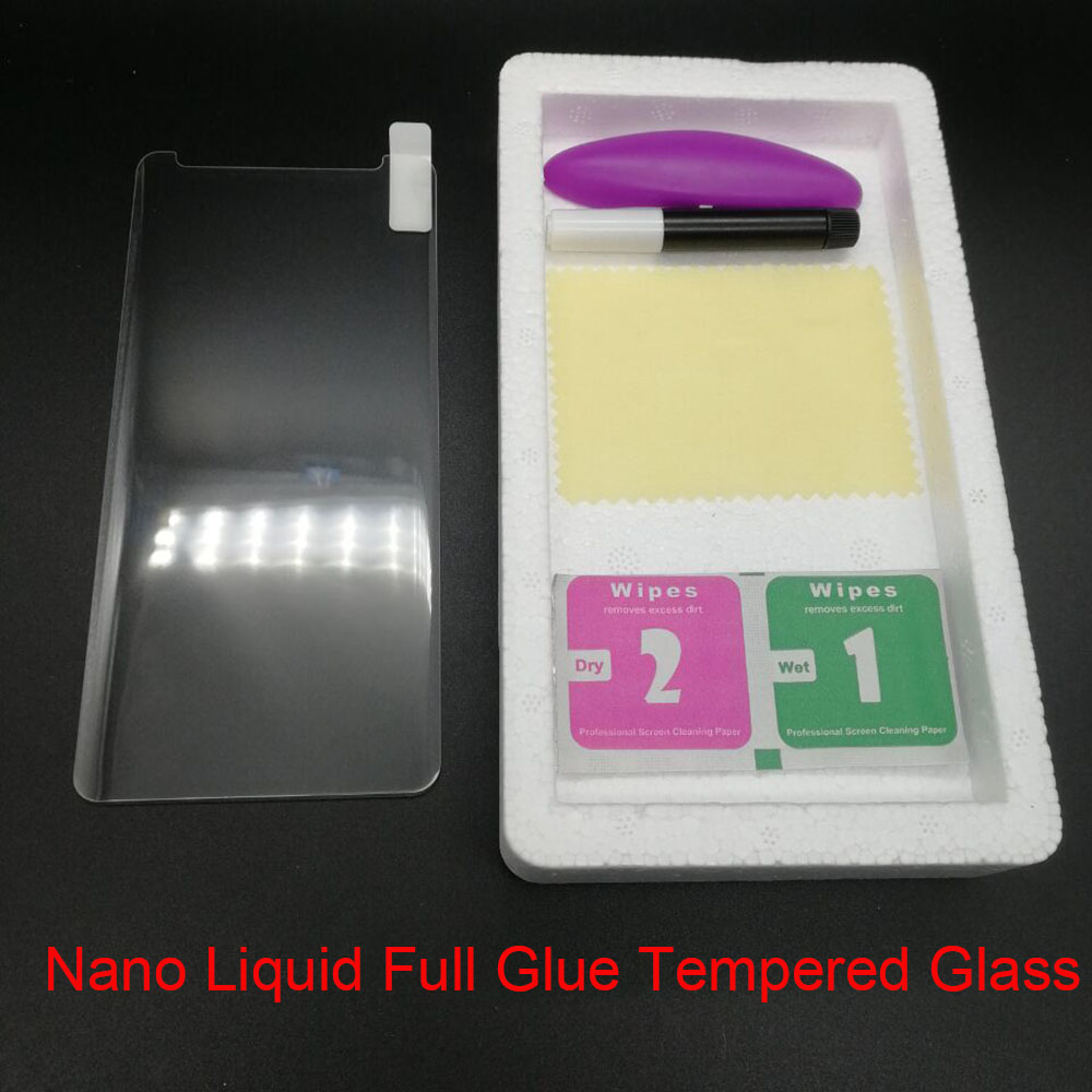 New Liquid Nanotech Case Friendly Tempered Glass&UV Lamp &Liquid Glue For Samsung Galaxy S7 Edge Note 8 S8 S9 Screen Protector image