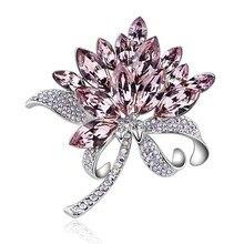 33715c611c Buy swarovski flower brooch and get free shipping on AliExpress.com