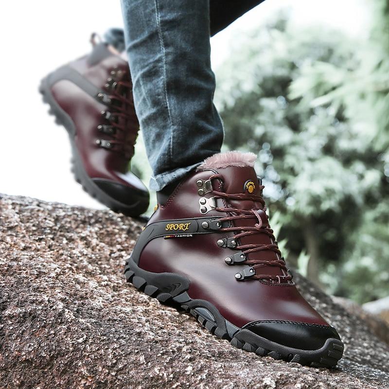 01e7bc3d3d51d1 Fourrure Homme Peluche Botte Caoutchouc Courte Chaud Hommes D'hiver Neige  Chaussures Black De brown En Pour ...