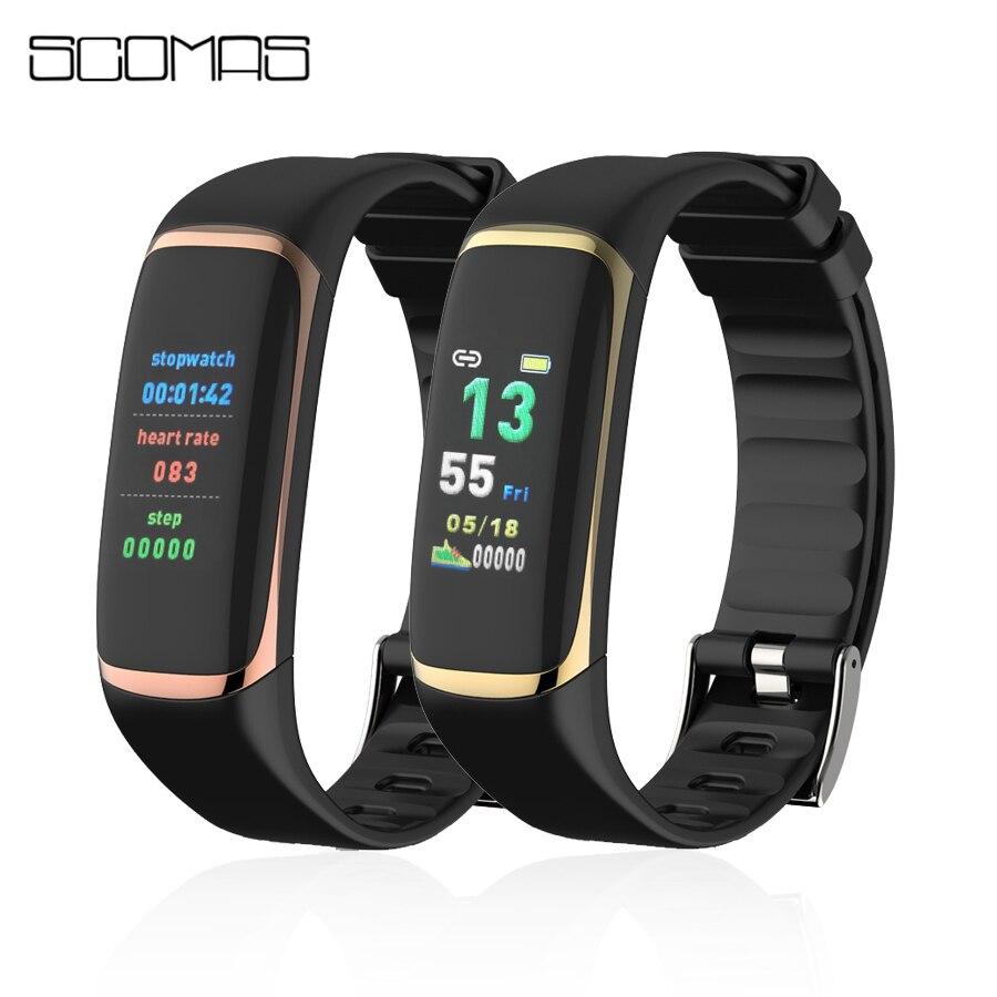 Tragbare Geräte Scomas P9 Smart Band Oled Farbe Bildschirm Hrv Blut Sauerstoff Fitness Tracker Heart Rate Monitor Smart Armband Für Ios Android NüTzlich FüR äTherisches Medulla
