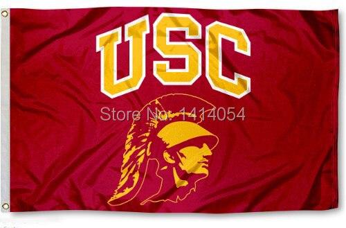 USC Trojans Südlichen Cal Universität Flagge 150X90 CM NCAA 3X5FT Banner 100D Polyester ösen custom009, freies verschiffen