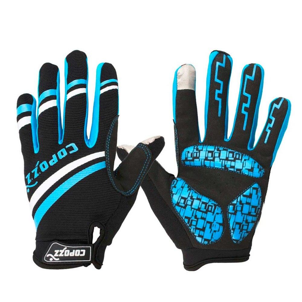 Prix pour Copozz nouveau gel complet doigt hommes femmes cyclisme gants tactile téléphone écran sport vtt vélo/vélo sport respirant antichoc
