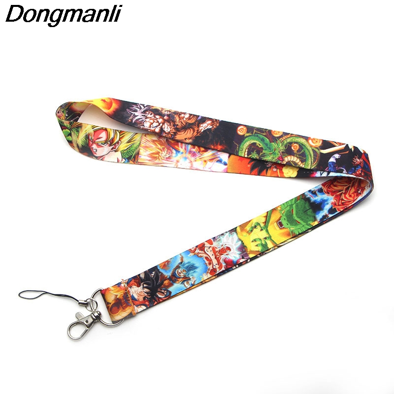 P2221 Dongmanli Wholesale 24pcs/lot DRAGON BALL Z Lanyards For Keys ID Card Pass Gym Mobile Phone USB Badge Holder