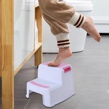 Горячая 2 шаг табурет Малыш Дети табурет туалет горшок обучение нескользящие для ванной комнаты Кухня 899