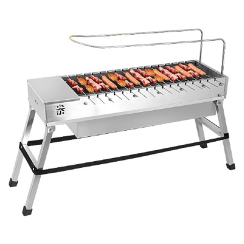 Stainless Steel Foldable BBQ Grill USB Electric Charcoal Grill Automatic Flip Barbecue Stove for Outdoor Picnic Home Garden Part-in BBQ Grills from Home & Garden    1