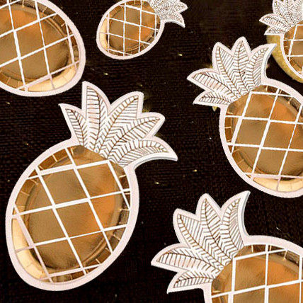 40pcs Pineapple Dishes Tropical Beach Party Decor Plates Luau Summer Fruit 1st Birthday Golden Bachelorette Party Tableware -in Disposable Party Tableware ... & 40pcs Pineapple Dishes Tropical Beach Party Decor Plates Luau Summer ...