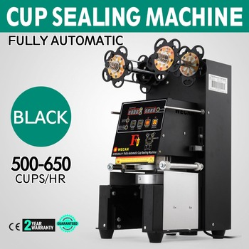 Electric Fully Automatic Cup Sealing Machine Pet Cups Large Tall 180mm Height