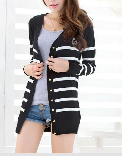 Fashion Cardigan Women Casual Sweater Cardigan Autumn Abrigo Mujer White Black Elegant Pull Femme Long Sleeve Tricot in Cardigans from Women 39 s Clothing