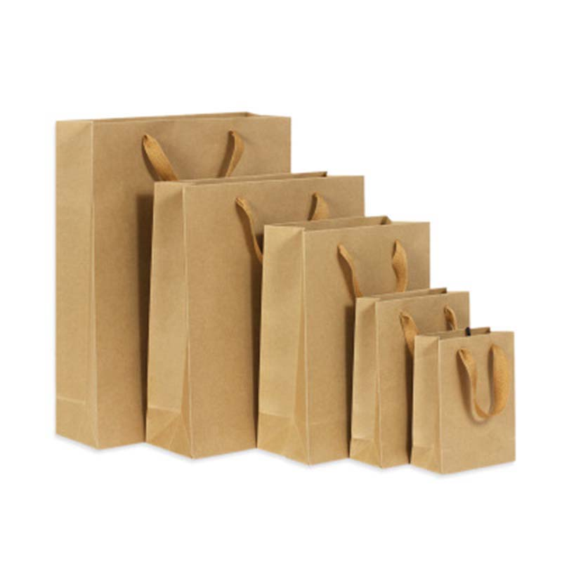 Gift Bags <font><b>With</b></font> <font><b>Handles</b></font> Multi-function High-end Brown <font><b>Kraft</b></font> <font><b>Paper</b></font> Bags Gift <font><b>Box</b></font> 6 Size for Shops Party Gifts 1PC image