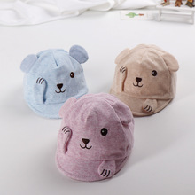 Shy little bear soft brim hat cotton baby cap spring new style
