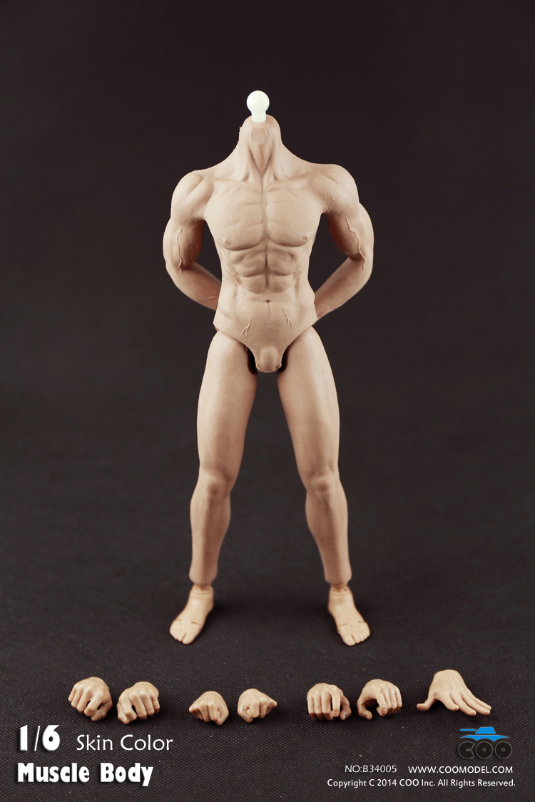 ФОТО COOMODEL 1/6 Pack Plastic Male Muscle Nude Action Figure Body-Fully Seamless