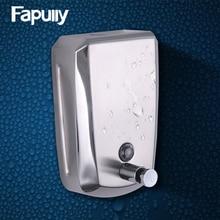 Fapully Bathroom Soap Dispenser Stainless Steel High Capacity 500ML/800ML/1000ML Wall Mounted Hand Liquid Bath