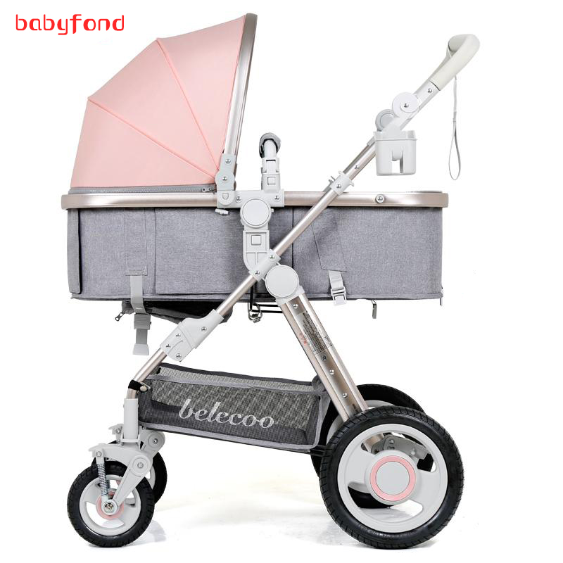 все цены на Belecoo baby stroller high landscape can be lying can be folded children's carts light stroller 2 in 1 онлайн