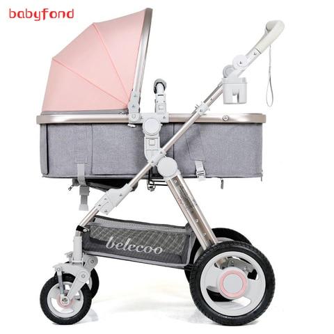 belecoo carrinho de bebe de alta paisagem pode ser deitado pode ser dobrado 2 em