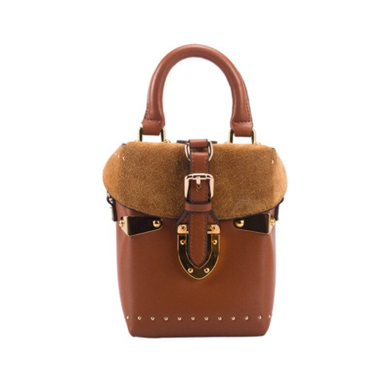 B0065 Trend Plaid Personality Stitching Collision Box-Shaped Handbag Wild Casual Shoulder Messenger Bag цена