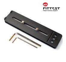 Fittest DPL 150 150mm 퀵 릴리스 플레이트 렌즈 플레이트 (unc1/4 및 3/8 나사 삼각대 포함) canon nikon sony sigma pentax tamron dslr