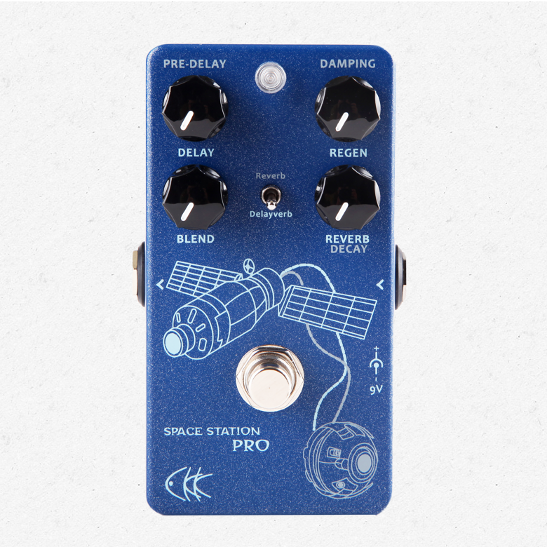 CKK Electronics Space Station Pro Delay and Reverb Guitar Effect Pedal