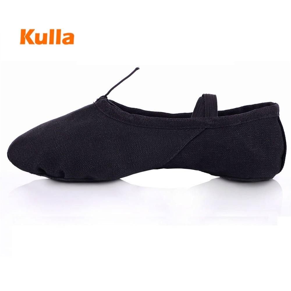 Size 24-45 Ballet Dance Shoes For Children Girls Black Red White Woman Men Ladies Professional Canvas Ballet Jazz Dance Shoes