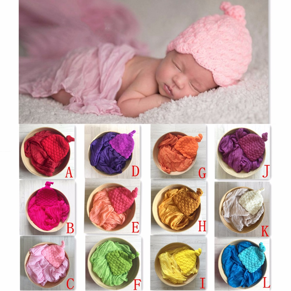 Newborn Photography Props Cotton Soft Photo Wrap Cloth With Hap Fotografie Achtergronden for Infant Accessoire