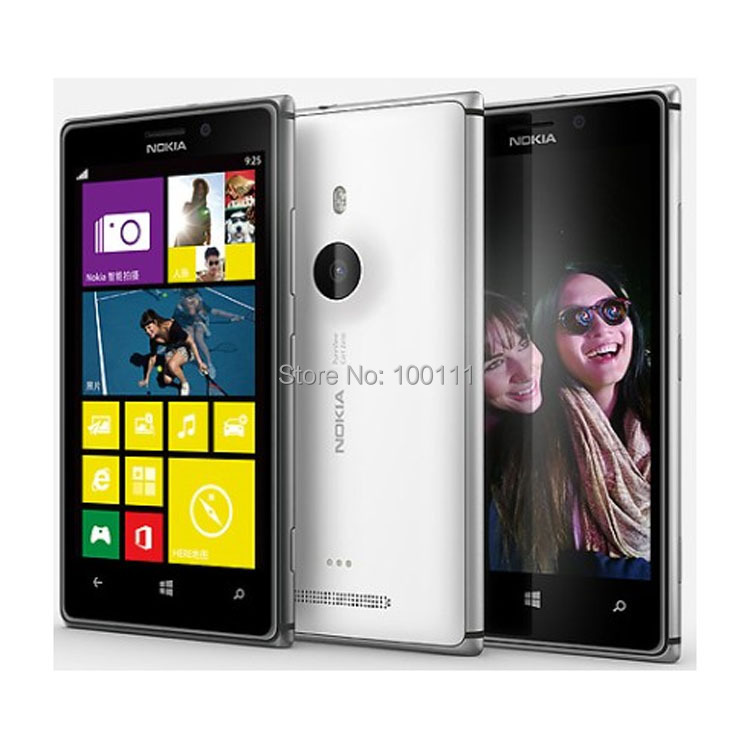 bilder für Original Nokia Lumia 925 Handy Entsperrt Windows Touch screen 4,5 ''8MP WIFI GPS 16 GB renoviert, freies DHL-EMS Verschiffen