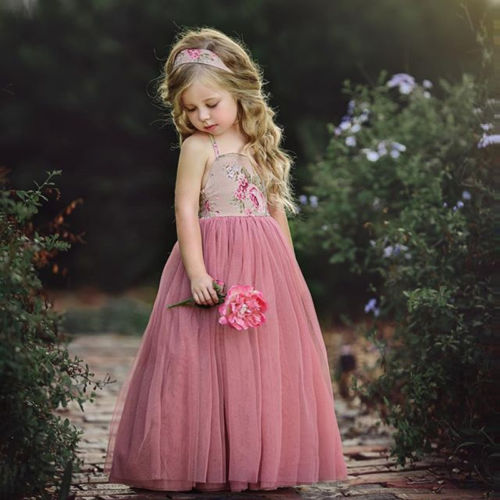Baby   Girl     Dress   Princess Kids Baby   Flower     Girls     Dress   Floral Party   Dress   Gown Formal Sundress Baby Clothing