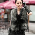 Free shipping 2016 Autumn Winter Faux Fur Vest Colete De Pele Falso Winter coat Casacos Femininos Women Coat Plus Size wholesale