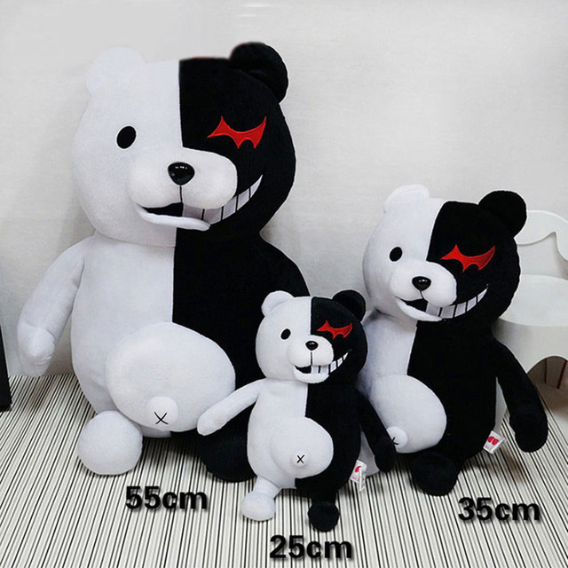 2019 Dangan Ronpa Super Danganronpa 2 Monokuma Black White Bear Plush Toy Soft Stuffed Animal Dolls