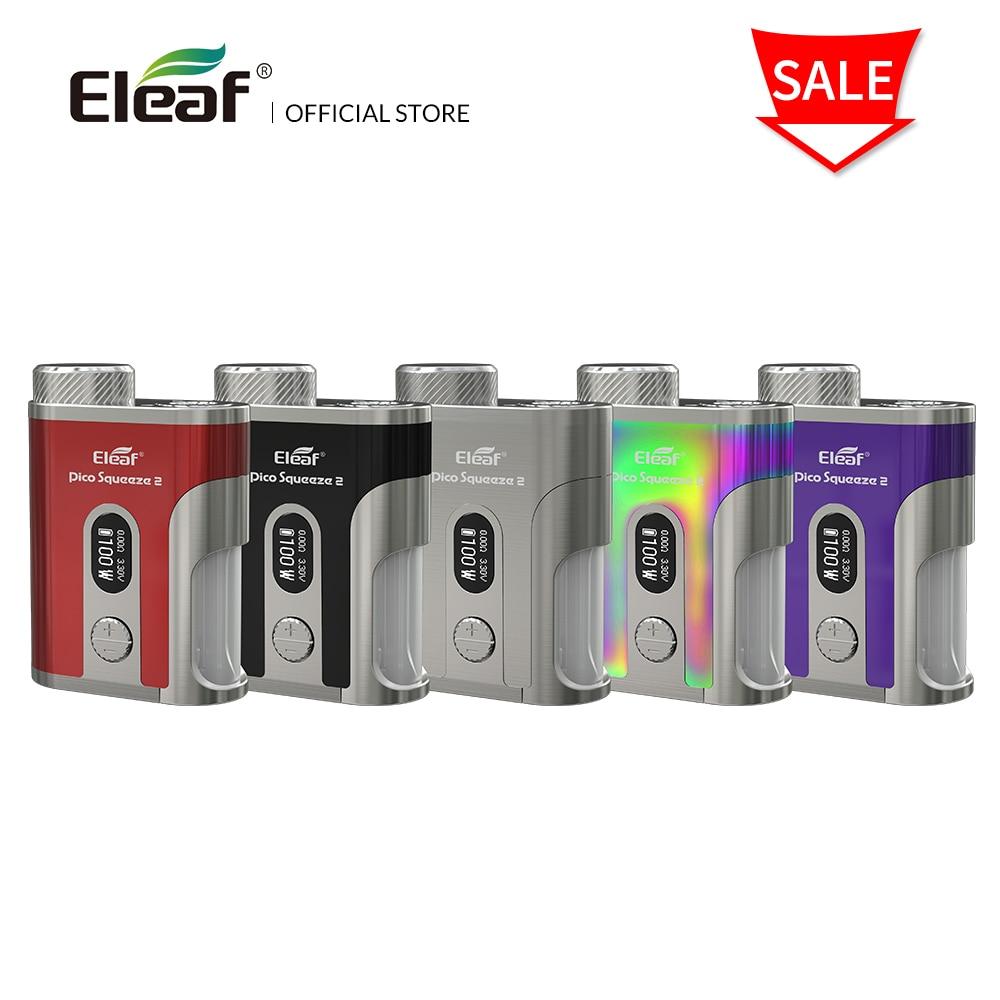 Original Eleaf Pico Squeeze 2 mod 100W with 8ml e liquid Bottle box mod electronic cigarette