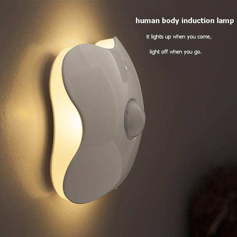 Беспроводной движения Сенсор свет Батарея Мощность ночник для ящика шкафа Лестница Семинар Спальня гараж лампы