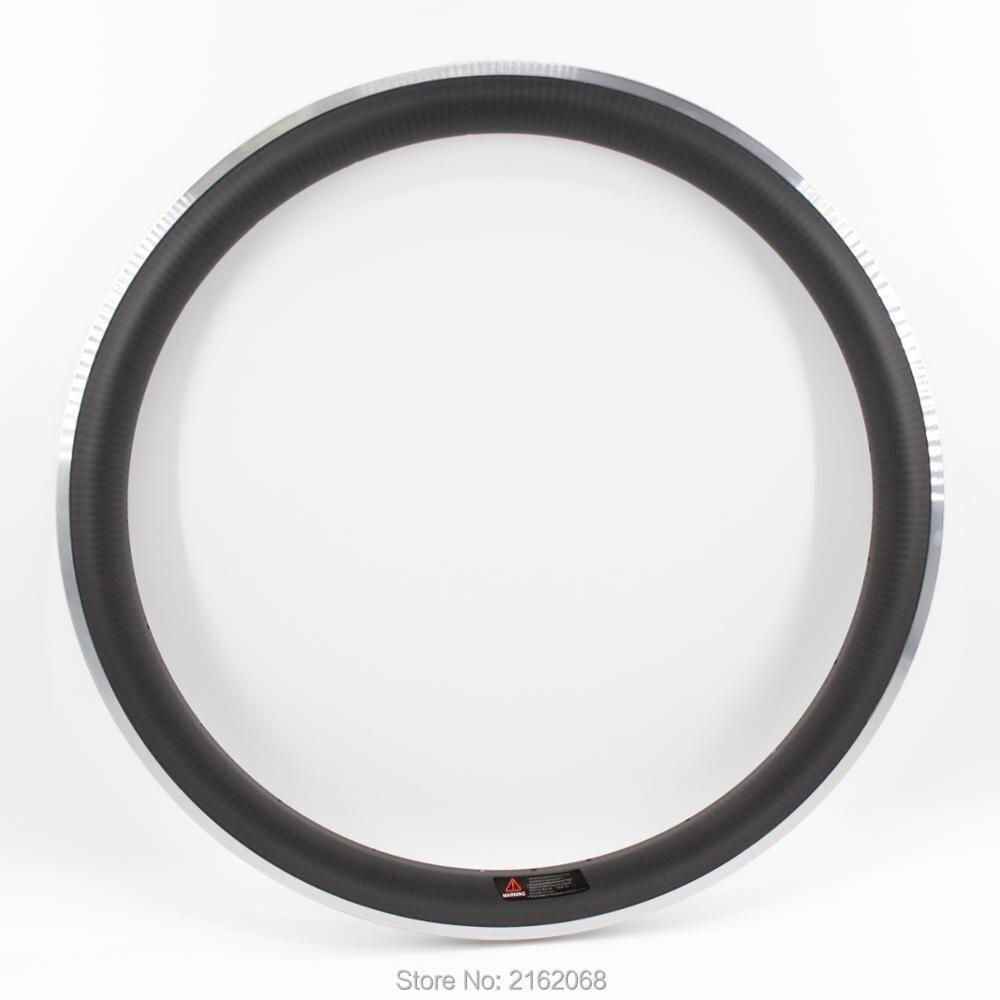 Le plus nouveau 700C 50mm route/vitesse fixe/voie vélo mat 3 K twill en fibre de carbone vélo roues pneu jante alliage frein surface livraison gratuite