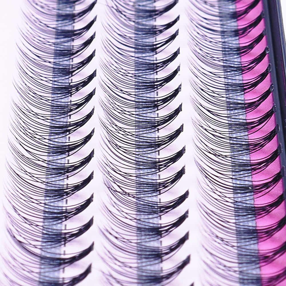 60 шт. Professional черный искусственный Макияж Индивидуальный кластер Накладные ресницы Поддельные Накладные ресницы