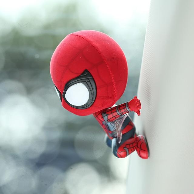 Magnet Spiderman Model Shake Head Toy Ornament