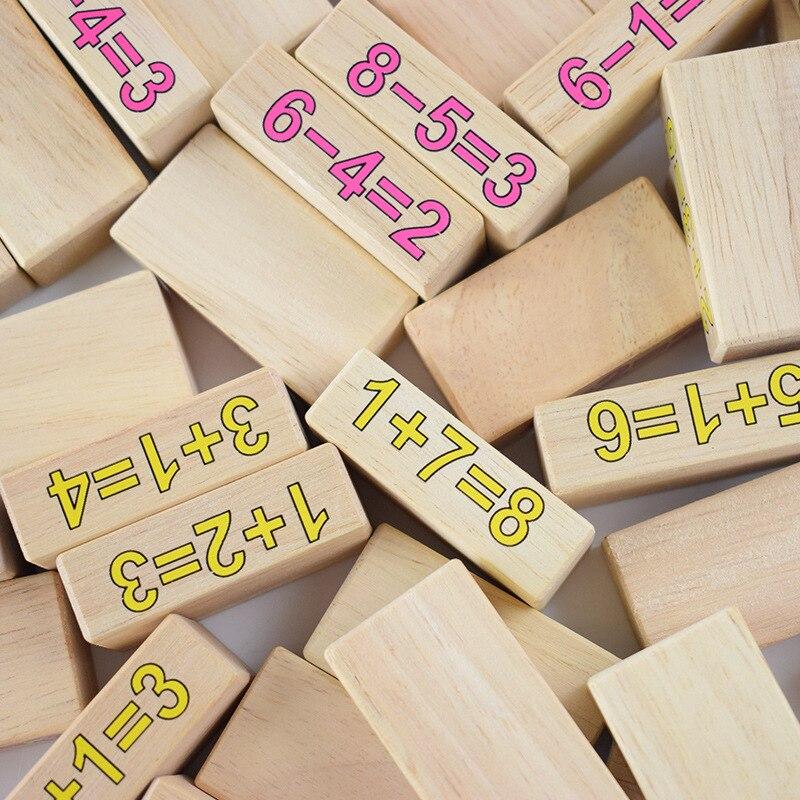 Puzzle pour enfants bois 54 bûches bois stratifié problème de musique enfant frapper mur numérique blocs de construction jeu jouets - 2