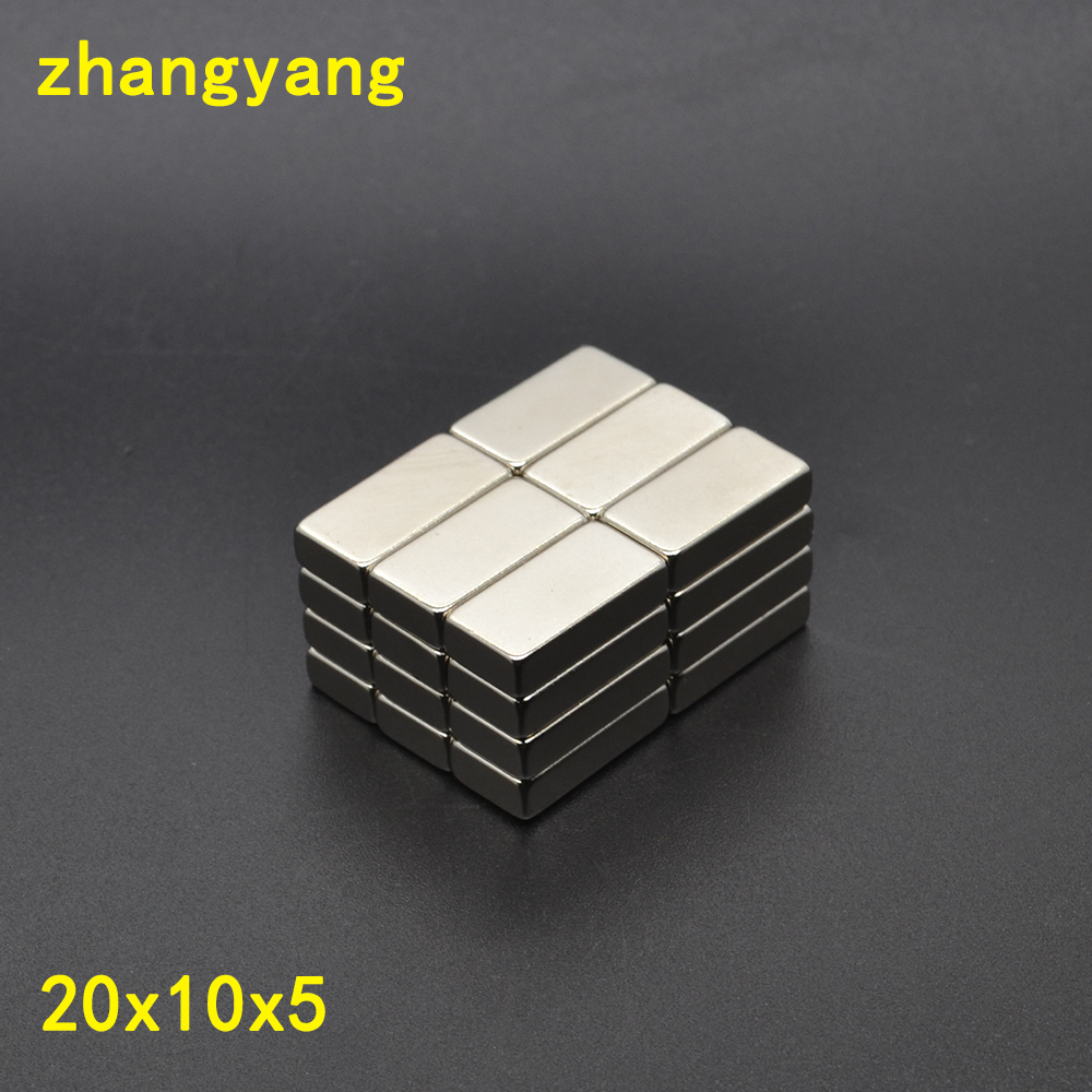Free Shipping 100PCS 20mm x 10mm x 5mm Strong Block Magnets 20*10*5 Rare Earth Neodymium 20x10x5 NEW Art Craft Connection free shipping sop32 wide body test seat ots 32 1 27 16 soic32 burn block programming block adapter